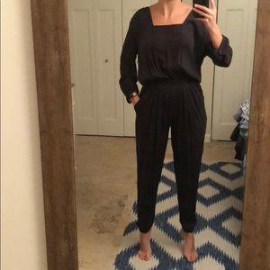NWOT Gypsy05 silk long sleeve jogger pant jumpsuit